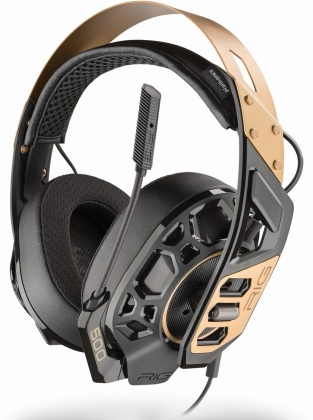 RIG 500 PRO GOLD - Gaming Headset [PS5/PS4/XSX/XONE/PC] (PlayStation 5 + Xbox Series X)
