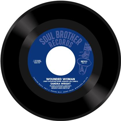 """Sandra Wright - Wounded Woman / Midnight Affair (Remastered, 7"""" Single)"""