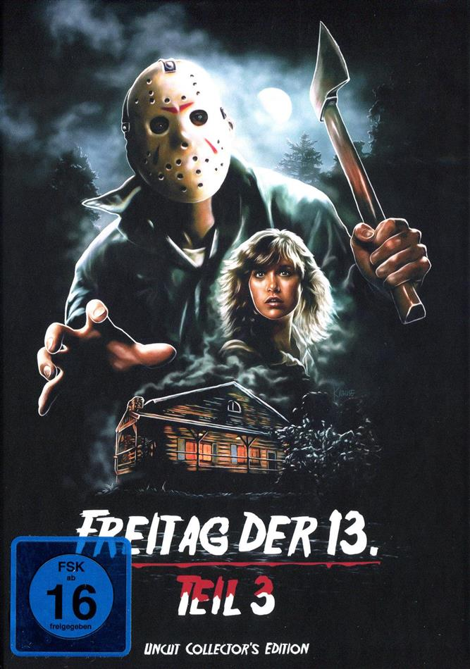 Freitag der 13. - Teil 3 (1982) (Cover D, Collector's Edition, Limited Edition, Mediabook, Uncut)