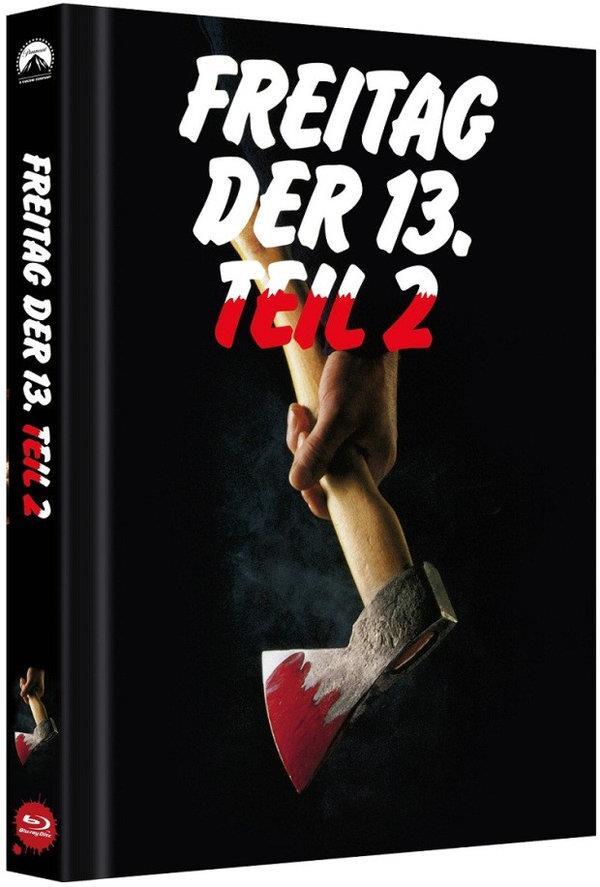 Freitag der 13. - Teil 2 (1981) (Cover B, Limited Edition, Mediabook, Uncut)