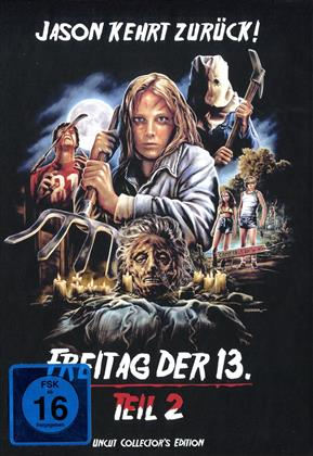 Freitag der 13. - Teil 2 (1981) (Cover D, Collector's Edition, Edizione Limitata, Mediabook, Uncut)