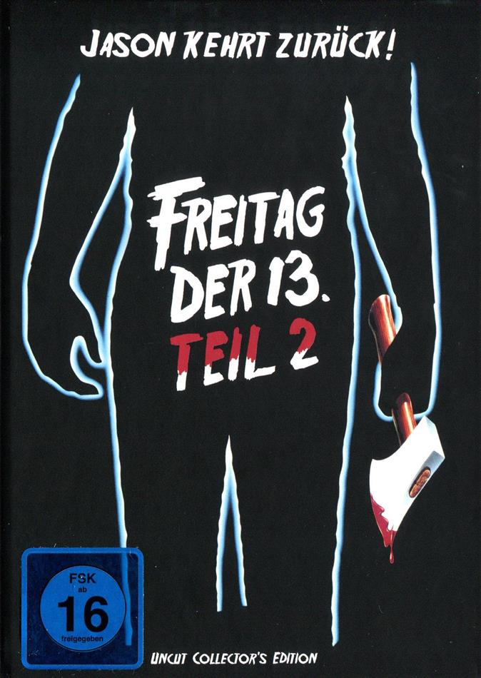 Freitag der 13. - Teil 2 (1981) (Cover C, Collector's Edition, Mediabook, Uncut)