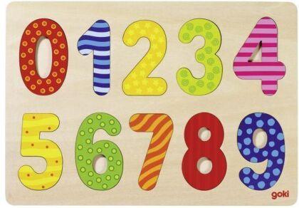 Zahlen 0-9 - 10 Teile Einlegepuzzle