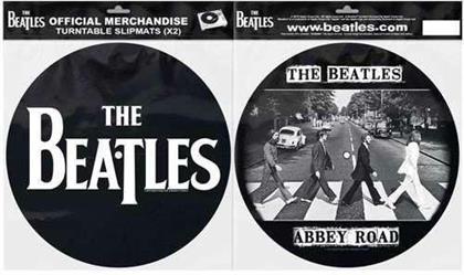The Beatles Turntable Slipmat Set - Drop T Logo & Crossing Silhouette (Retail Pack)