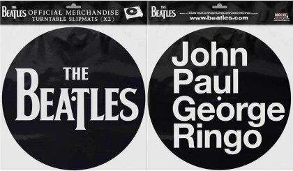 The Beatles Turntable Slipmat Set - Drop T Logo & JPGR (Retail Pack)