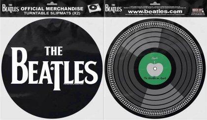 The Beatles Turntable Slipmat Set - Drop T Logo & Apple (Retail Pack)