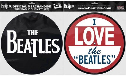 The Beatles Turntable Slipmat Set - Drop T Logo & Love (Retail Pack)