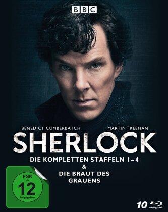 Sherlock - Staffeln 1-4 & Die Braut des Grauens (10 Blu-rays)