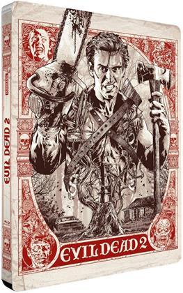 Evil Dead 2 (1987) (Limited Edition, Restaurierte Fassung, Steelbook, 2 Blu-rays)
