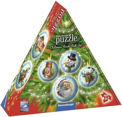 Christmas - 4x 27 Teile Puzzle-Ball-Set