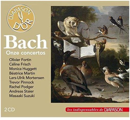 Olivier Fortin, Céline Frisch, Monica Hugget, Lars-Ulrik Mortensen, Trevor Pinnock, … - Concertos-Bwv1065-1041-1061-1060-1056-1044-1052-1052 - Onze Concertos (Diapason D'Or, 2 CDs)