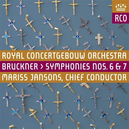 Anton Bruckner (1824-1896), Mariss Jansons & Royal Concertgebouw Orchestra - Symphony No. 6 & 7 - Symphonien Nr. 6 & 7 (UHQCD, Japan Edition, 2 CDs)