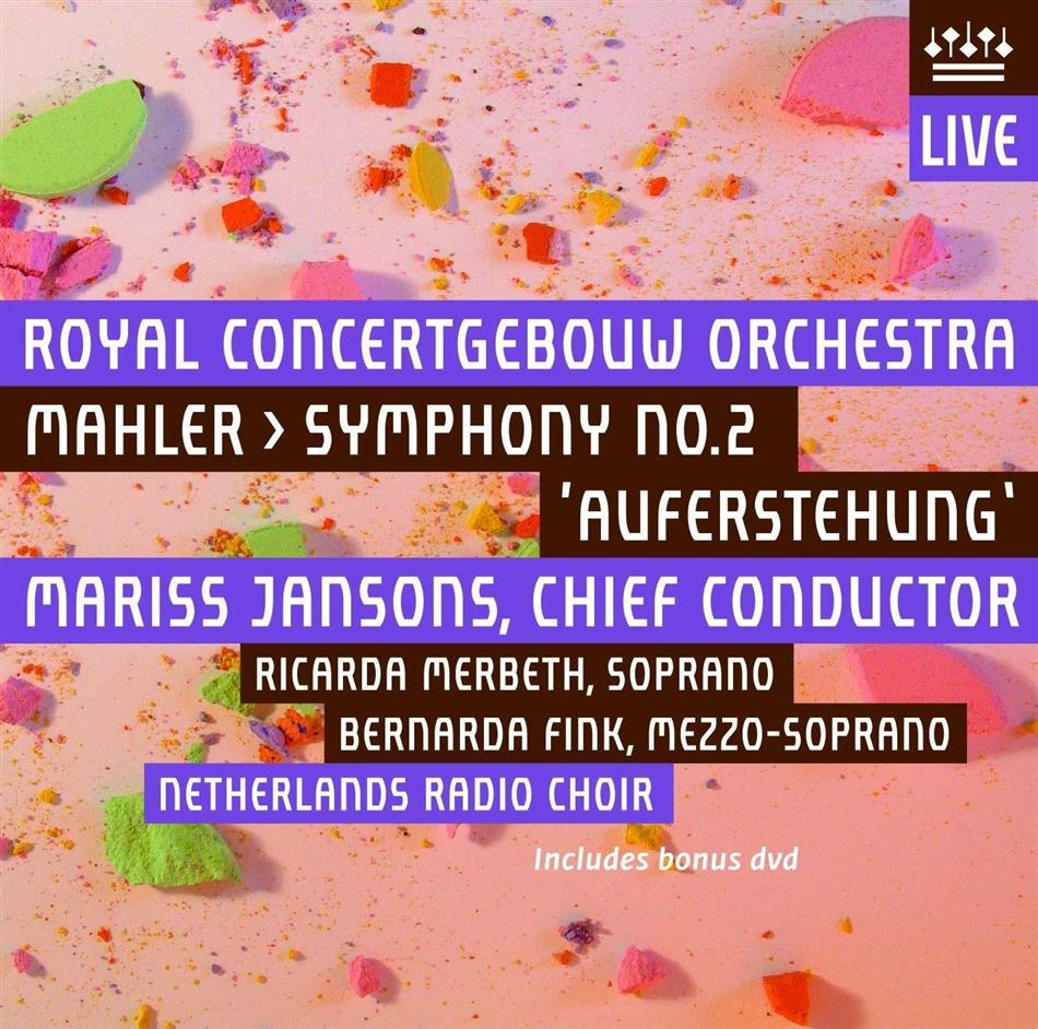 Gustav Mahler (1860-1911), Mariss Jansons & Royal Concertgebouw Orchestra - Symphony No. 2 - Symphonie Nr. 2 (UHQCD, Japan Edition, 2 CDs)