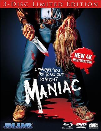Maniac (1980) (4K Mastered, Limited Edition, Blu-ray + DVD + CD)