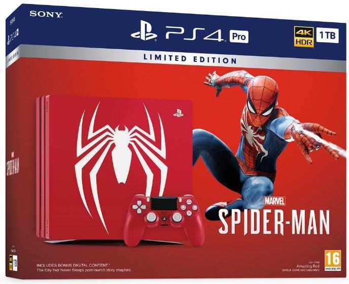 Sony Playstation 4 1TB PRO Spiderman (Limited Edition)
