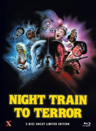 Night Train to Terror (1985) (Cover C, Limited Edition, Mediabook, Uncut, Blu-ray + DVD)