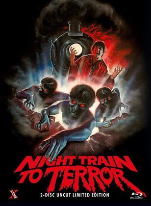 Night Train to Terror (1985) (Cover B, Limited Edition, Mediabook, Uncut, Blu-ray + DVD)