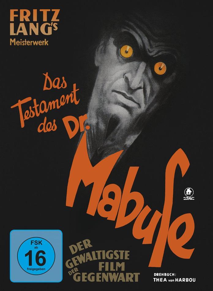 Das Testament des Dr. Mabuse (1933) (s/w, Limited Edition, Mediabook, Blu-ray + DVD)
