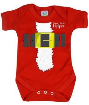 Santa's Little Helper Baby Body - 6-12 Months - Taglia 68/74