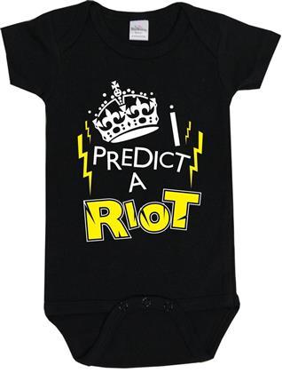 I Predict A Riot Baby Body - 6-12 Months - Taglia 68/74