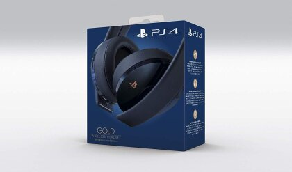 PS4 Headset Original GOLD Navy Blue Edition Sony 7.1. - (500 Million Limited Edition)