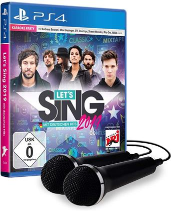 Lets Sing 2019 + 2 Micros mit deutschen Hits (German Edition)