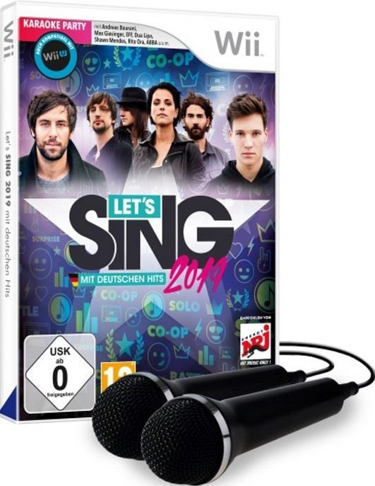 Let's Sing 2019 + 2 Micros mit deutschen Hits WIIU Kompatibel - (WIIU kompatibel) (German Edition)