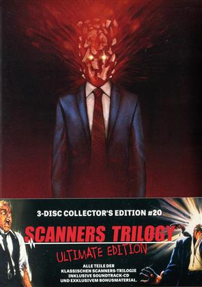 Scanners 1-3 - Trilogy (Collector's Edition, Mediabook, Ultimate Edition, Uncut, 3 Blu-rays + CD)