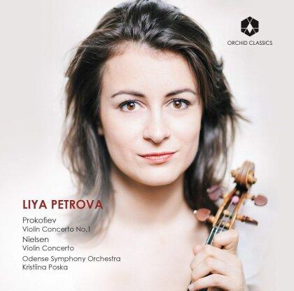 Serge Prokofieff (1891-1953), Carl August Nielsen (1865-1931), Kristiina Poska, Liya Petrova & Odense Symphony Orchestra - Violinkonzerte