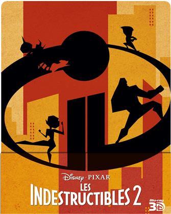 Les Indestructibles 2 (2018) (Edizione Limitata, Steelbook, Blu-ray 3D + 2 Blu-ray)