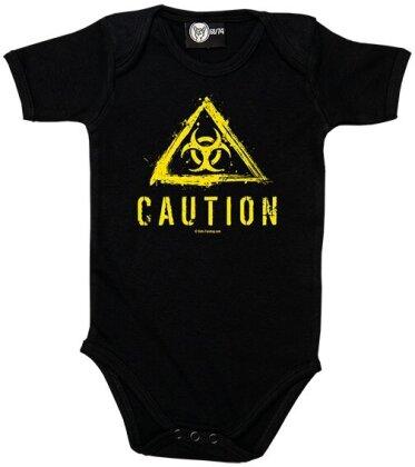 Caution (Biohazard) Baby Body - Taglia 68/74