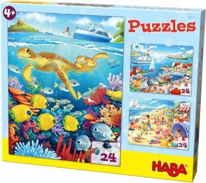 Puzzles Am Meer. 3 Motive je 24 Teile