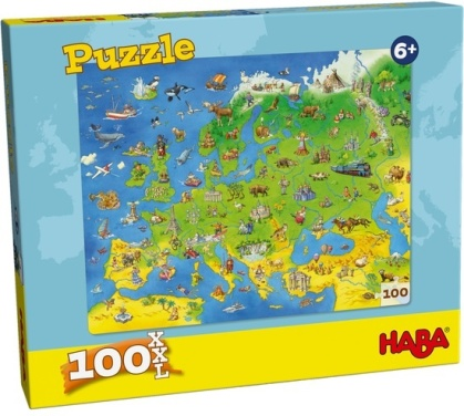 Länder Europas - 100 Teile Puzzle