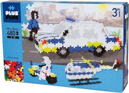 Plus-Plus 3in1 Mini Basic: Police - 480 Teile