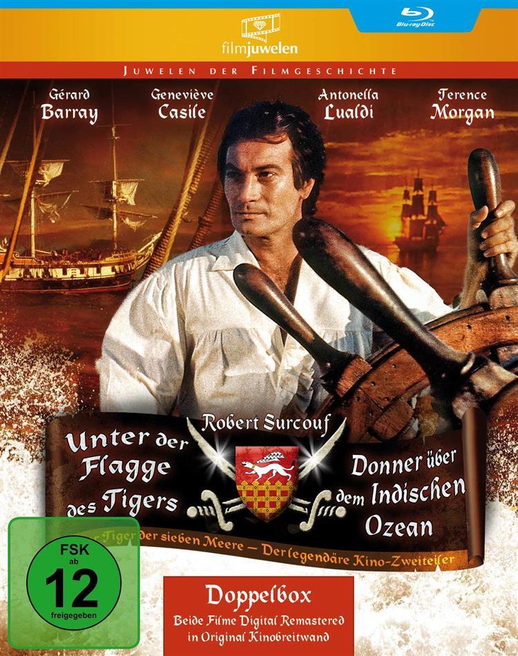 Unter der Flagge des Tigers / Donner über dem Indischen Ozean (Filmjuwelen, 2 Blu-ray)