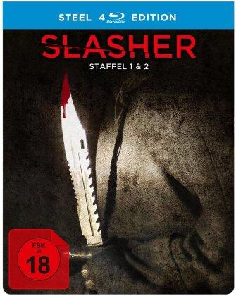 Slasher - Staffel 1 & 2 (Limited Edition, Steelbook, 4 Blu-rays)