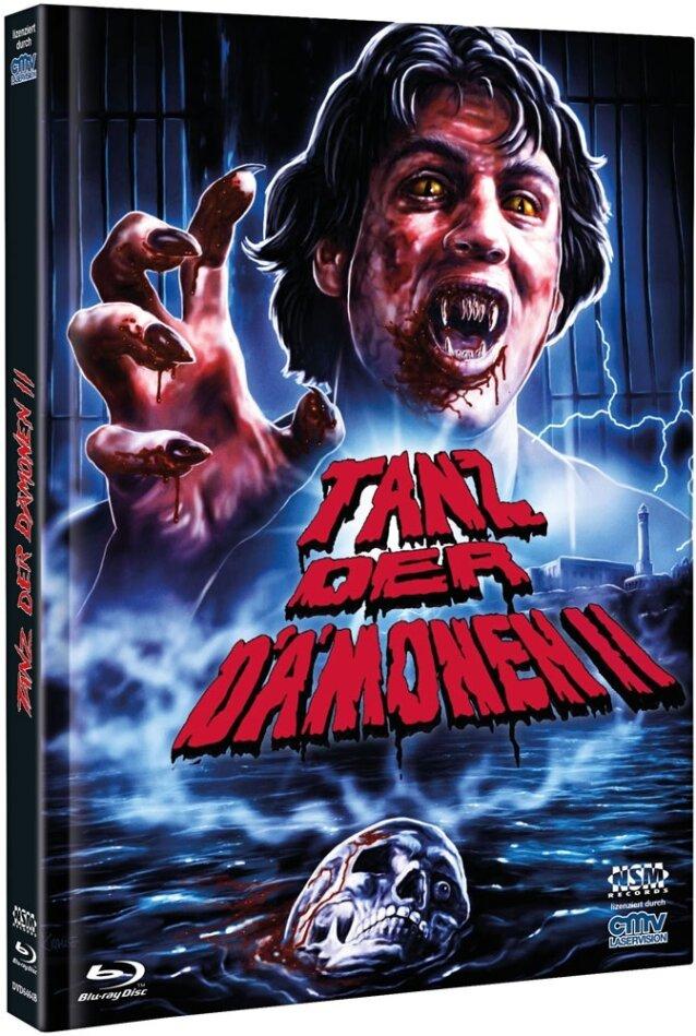 Tanz der Dämonen 2 (1988) (Cover B, Limited Edition, Mediabook, Uncut, Blu-ray + DVD)