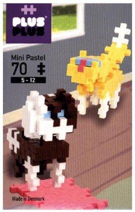 Plus-Plus Mini Pastel: Cat & Dog - 70 Teile