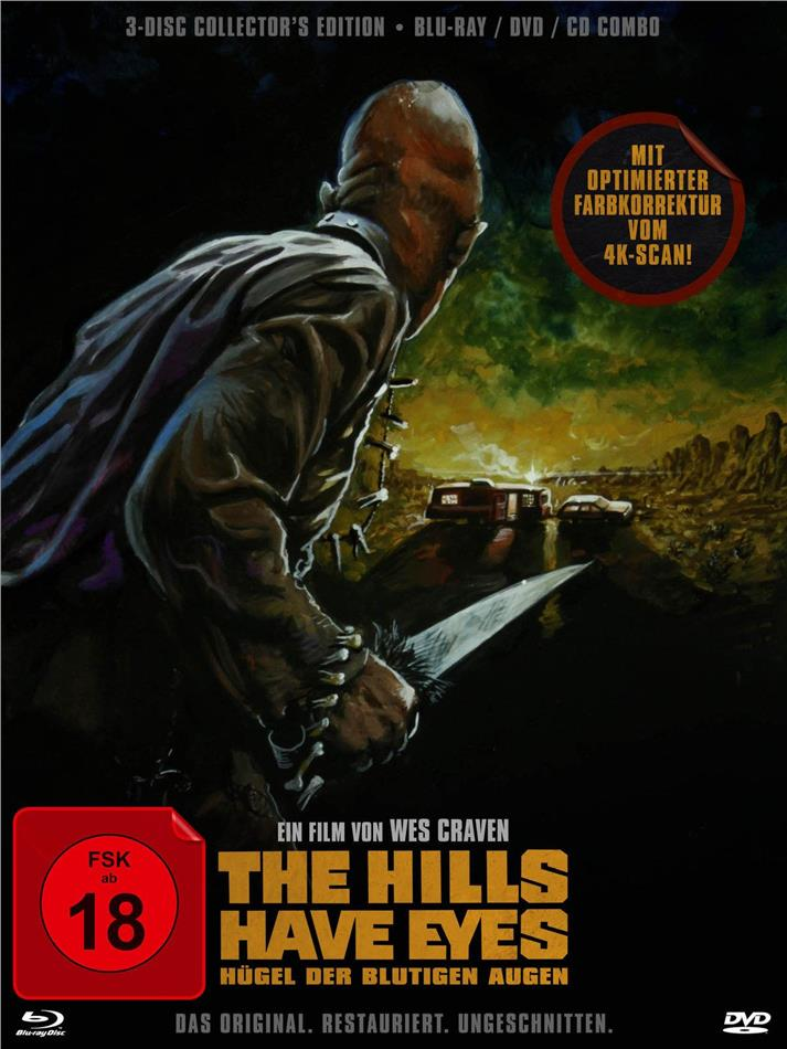 The hills have eyes (1977) (Digipack, Collector's Edition, Limited Edition, Restaurierte Fassung, Uncut, Blu-ray + DVD + CD)