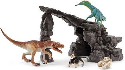 Schleich Dinoset mit Höhle - Kunststoff-Figur (Gift Set)
