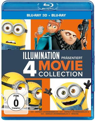 Ich - Einfach unverbesserlich 1-3 & Minions (4 Blu-ray 3D (+2D))