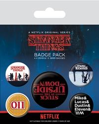 Stranger Things: Upside Down - Ansteck-Buttons 5er-Pack