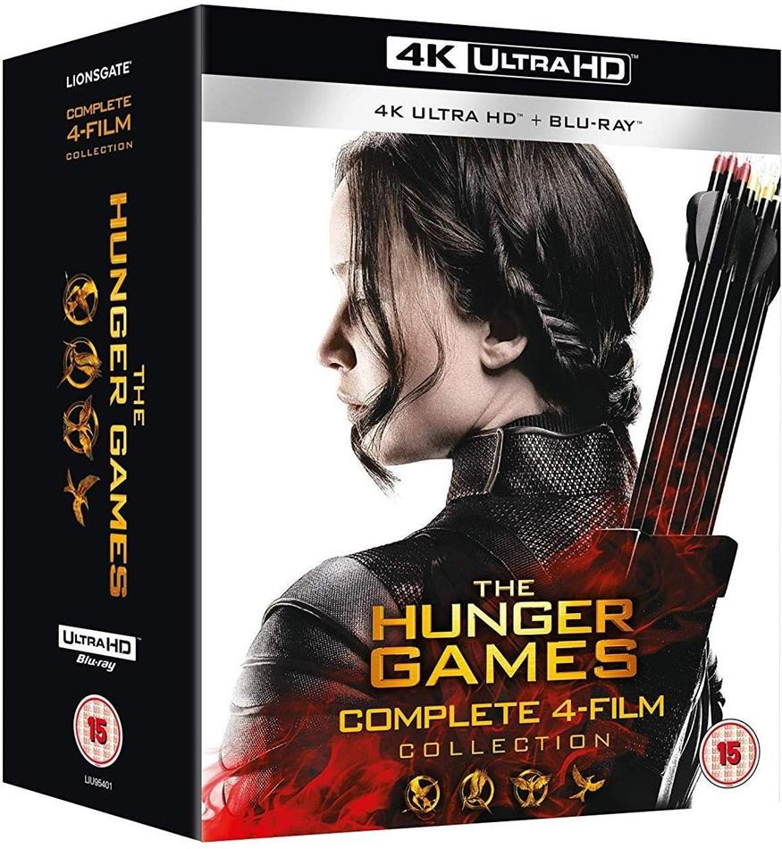 The Hunger Games 1-4 - Complete 4-Film Collection (3 4K Ultra HDs + 4 Blu-rays)
