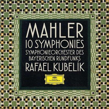 Gustav Mahler (1860-1911), Rafael Kubelik & Symphonieorchester des Bayerischen Rundfunks - 10 Sinfonien (Limited, 11 CDs)