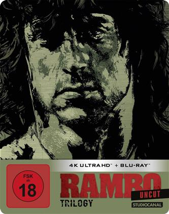 Rambo Trilogy (Limited Edition, Steelbook, Uncut, 3 4K Ultra HDs + 3 Blu-rays)