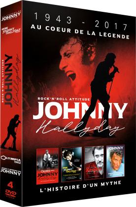 Johnny Hallyday - 1943 - 2017 au coeur de la légende (4 DVDs)