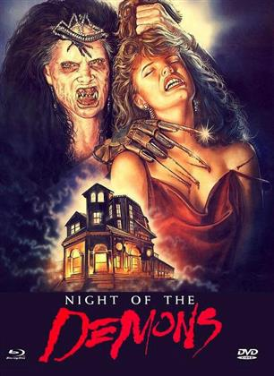Night of the Demons (1988) (Cover B, Limited Edition, Mediabook, Uncut, Blu-ray + DVD)