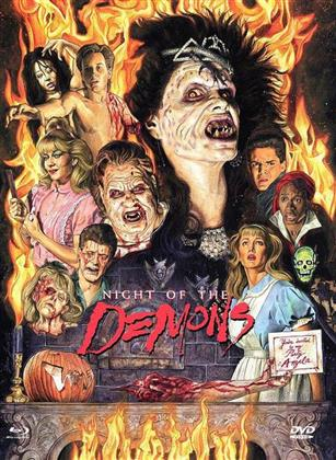Night of the Demons (1988) (Cover D, Limited Edition, Mediabook, Uncut, Blu-ray + DVD)