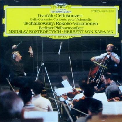 Antonin Dvorák (1841-1904), Peter Iljitsch Tschaikowsky (1840-1893), Herbert von Karajan, Mstislav Rostropovitsch & Berliner Philharmoniker - Cello Concerto & Rokoko Variationen (Japan Edition, Limited Edition)