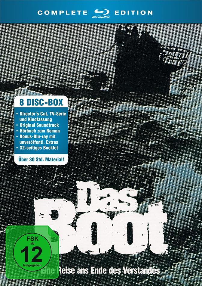 Das Boot - Complete Edition (Director's Cut, Kinoversion, 5 Blu-rays + CD + 2 Hörbücher)